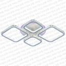 Светодиодная люстра хрустальная квадратами белая с пультом управления фото